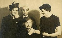 Helen Keller photograph with Lisa Sergio