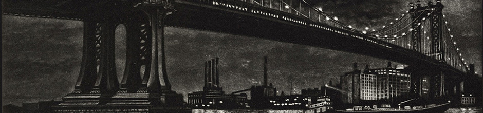 Detail from Mershimer's Manhattan Bridge
