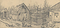 Sketch for Hungarian American Farm