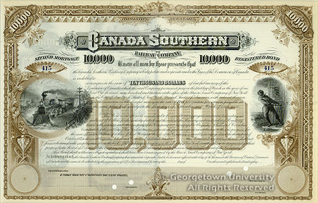 Canada Southern Bond Certificate