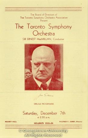 Sibelius Programme / Saturday, December 7th
