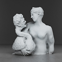 image of 3D art sculpture mashup
