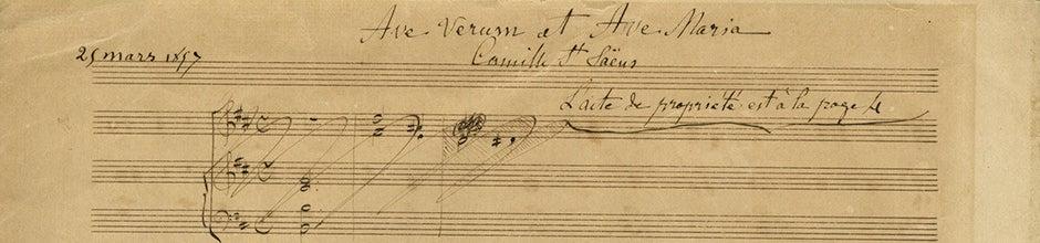 Deteail from music manuscript